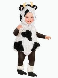 Princess Paradise Chenille Cow Costume Size Toddler 6-12 Months