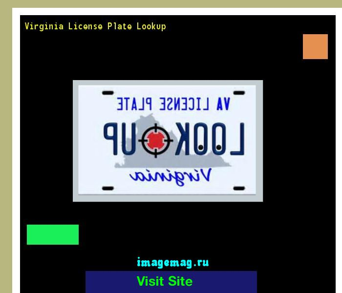Virginia license plate lookup 150206 - The Best Image Search