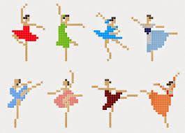 Resultado de imagem para para fazer ...arte/bailarinas em ponto cruz