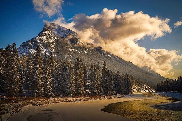 """Golden Hour""at Mt.Rundle,Banff National Park,Alberta Canada.Photographer:Aaron John Garcia"