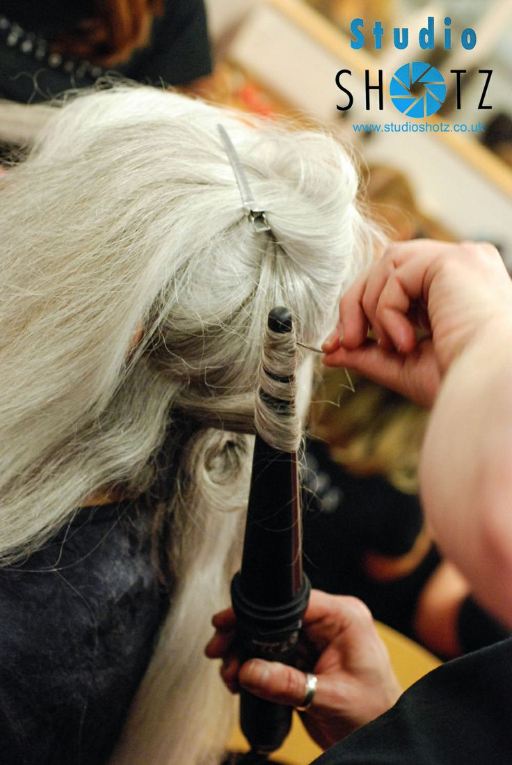 Backstage Hair by Scissors Salons for Runway Show at South Coast Fashion Week