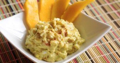 Receita de salada apimentada de ovo e abacate