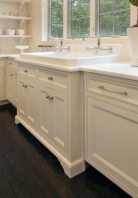 sink below windows, furniture detail base trim