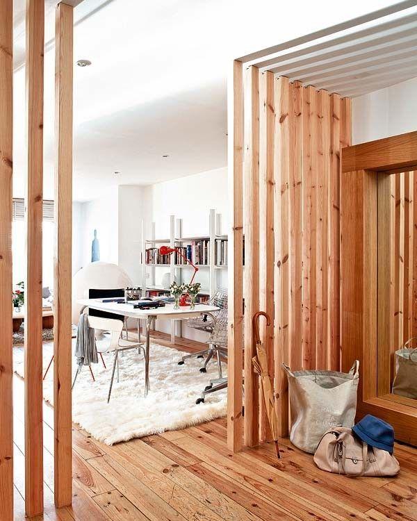 mur separateur en bois