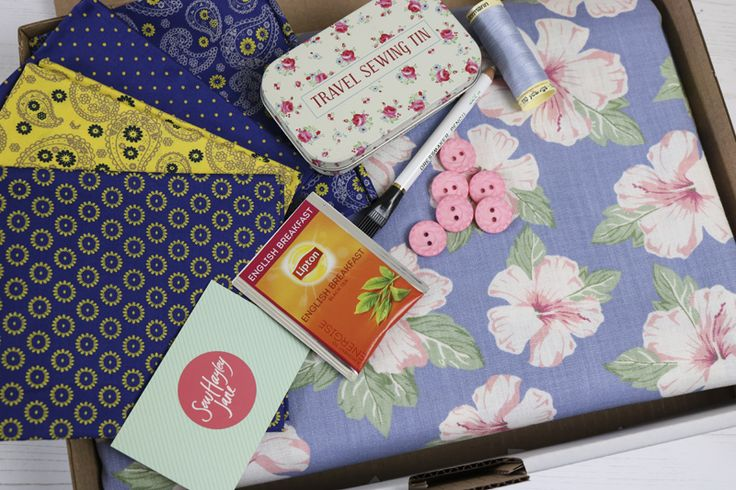 """August's """"Wanderlust"""" themed sewing subscription box from SewHayleyJane"""