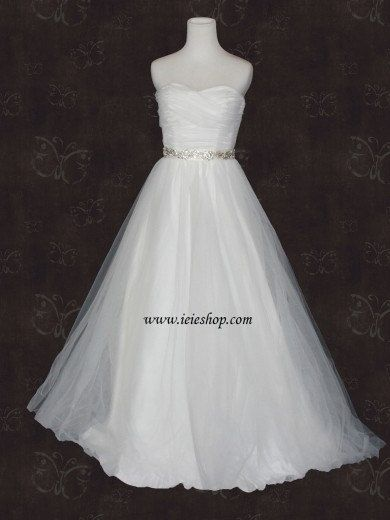Fairytale Princess Strapless Sweetheart Tulle A-line by ieie