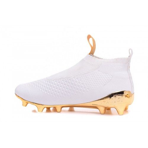 Salg Adidas ACE Fodboldstøvler - Bedst 2017 Adidas ACE 16 Purecontrol Hvid Guld Fodboldstovler