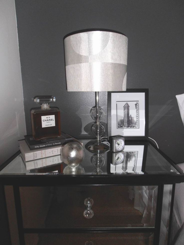 Re staging of my #bedside tables...#Manhattan style. #dark grey  #www.denovoconcepts.com