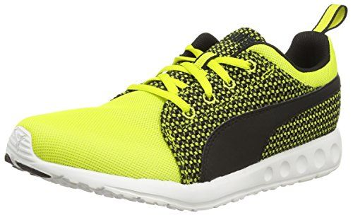 Puma Carson Runner Knit, Herren Laufschuhe, Gelb (sulphur spring-black 02), 47 EU (12 Herren UK) - http://uhr.haus/puma-6/puma-carson-runner-knit-herren-laufschuhe-gelb-02
