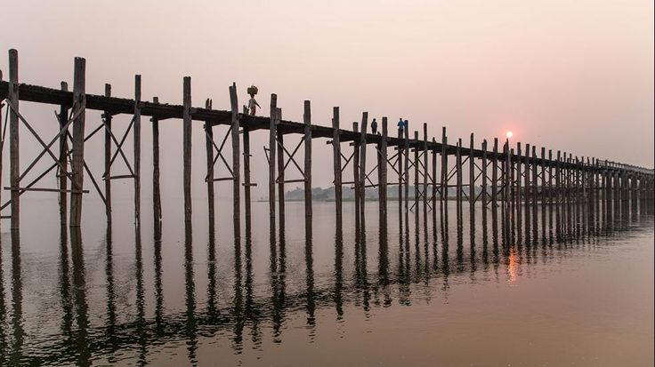 The U Bein Bridge, Amarapura, Myanmar