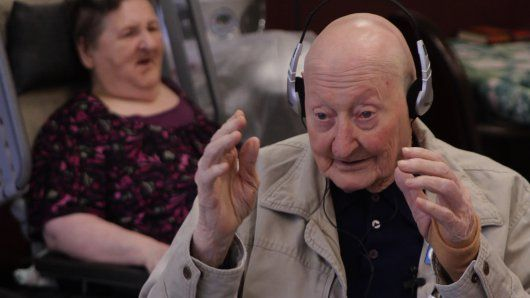 """The new documentary ""Alive Inside"" shows the transformative power of music as several elderly dementia patients are given iPods loaded with their favorite music. The previously unresponsive seniors quickly start to tap their toes, swing their hands.."""