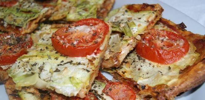 Hojaldres de calabacín y tomate