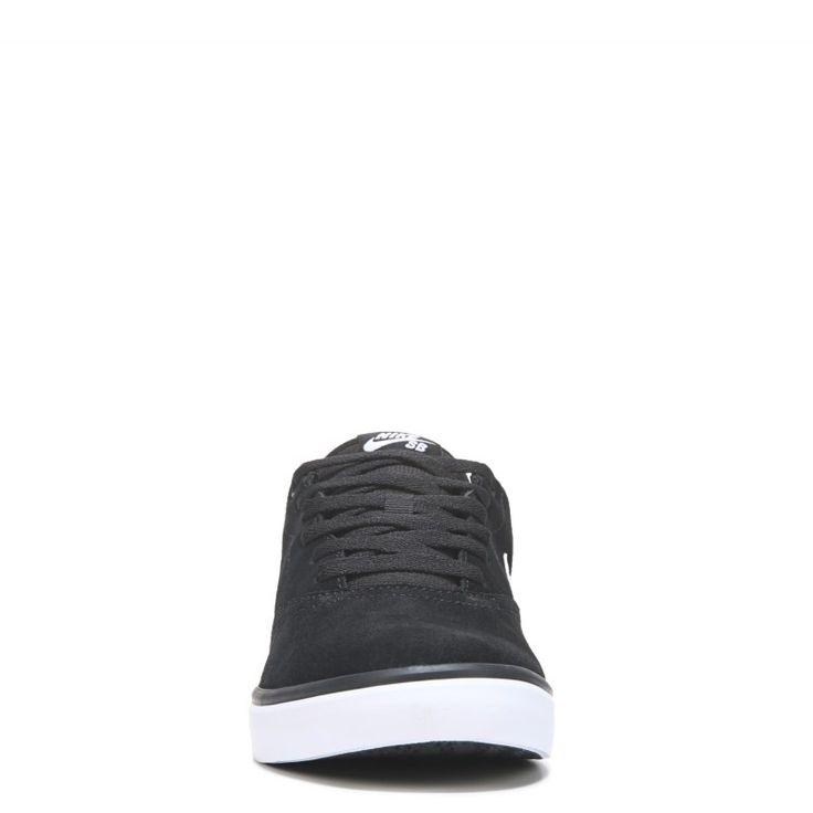 Nike Men's Nike SB Check Solar Suede Skate Shoes (Black/White) - 14.0 M