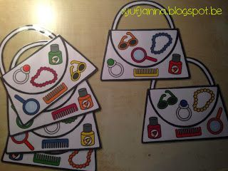 Handtasjesspel (foto 1) voor uitleg zie xjufjanna.blogspot.be