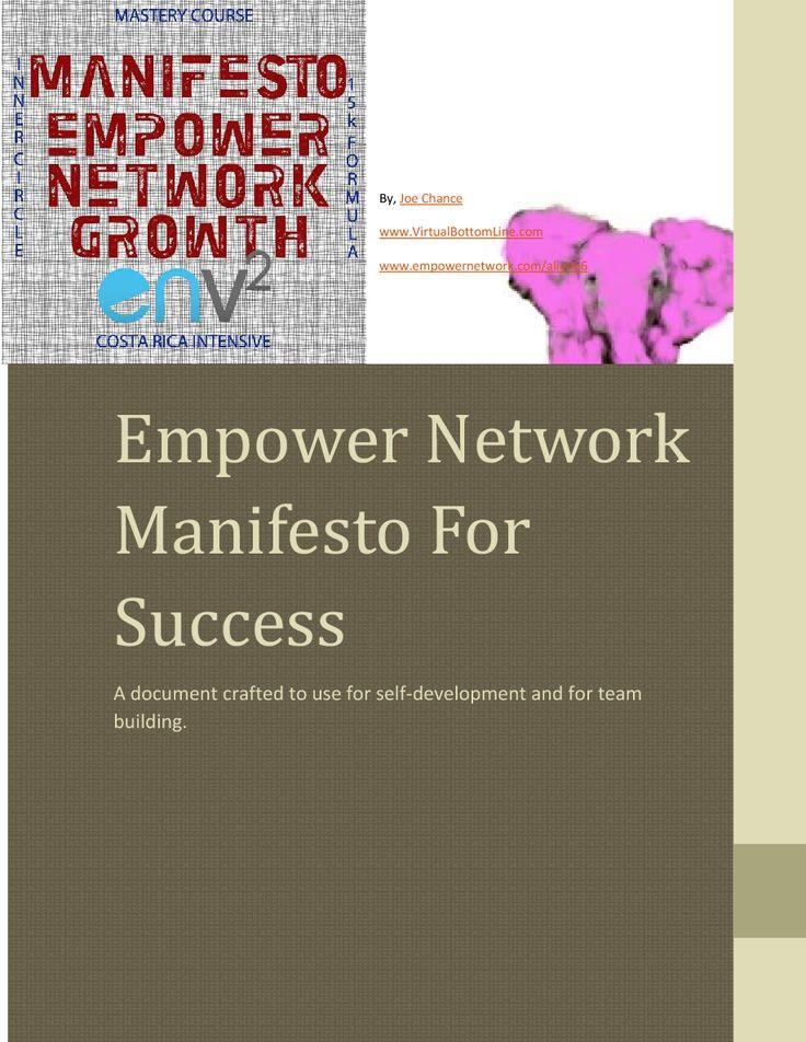 Empower Network Manifesto For Success | edocr http://badasscontent.com/StayathomeMakeMillions  http://www.youtube.com/watch?v=OBiY606_E8E