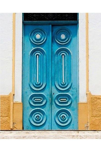 Blue Brazil Door - See the most beautiful doors from all around the world courtesy of Door J'adore pics from their regular Instagram takeovers on the House & Garden account.