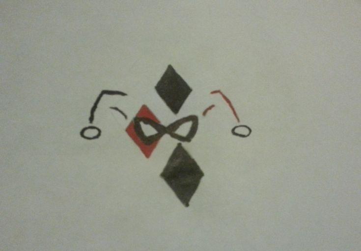 Harley Quinn symbol drawing by DashiesFavoriteHuman
