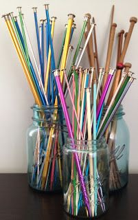 Have to display my knitting needles like this.
