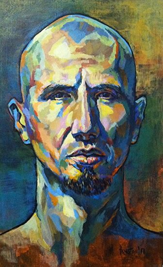 Self Portrait by William Houston was selected as Outstanding Acrylic in the January 2013 BoldBrush Painting Competition.