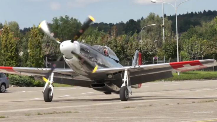 A North American P 51d Mustang Painted In Swiss Air Force