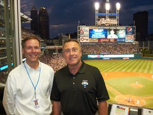 The best major league baseball radio play-by-play team: Jim Rosenhaus (left), Tom Hamilton (right). Cleveland Indians Radio Network.
