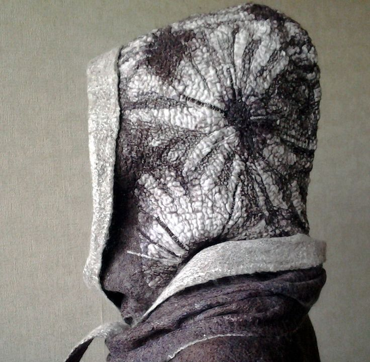 Игра с хлопком. Хлопковые фактуры на примере башлыка или шапочки. - Ярмарка Мастеров - ручная работа, handmade