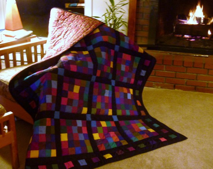 Winter lap quilt