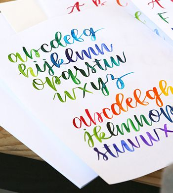 Watercolour Brush Lettering