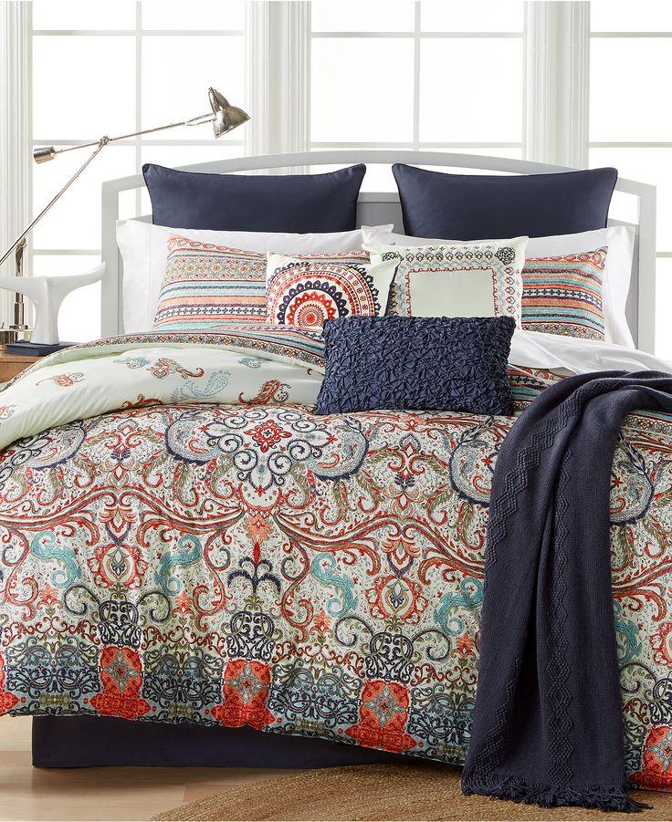 Sorrel Reversible 10-Pc. Queen Comforter Set - Bed in a Bag - Bed & Bath - Macy's