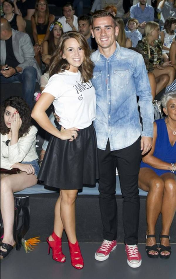 Antoine Griezmann French Football with his girlfriend in Madrid Fashion Week!