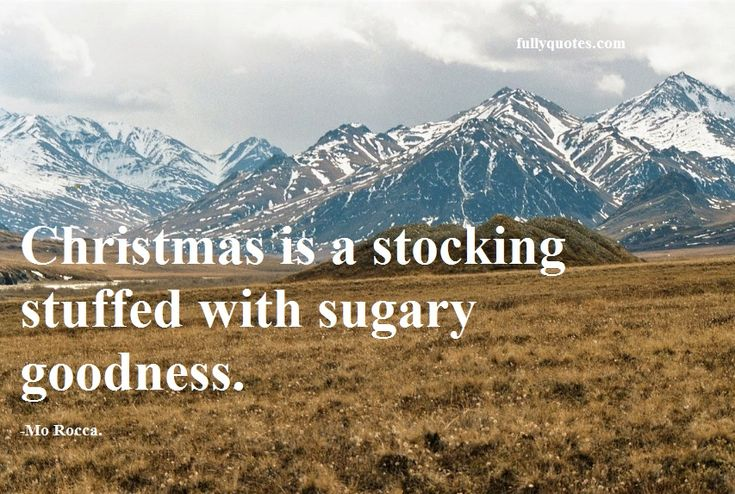"""""""Christmas is a stocking stuffed with sugary goodness."""" -Mo Rocca."""