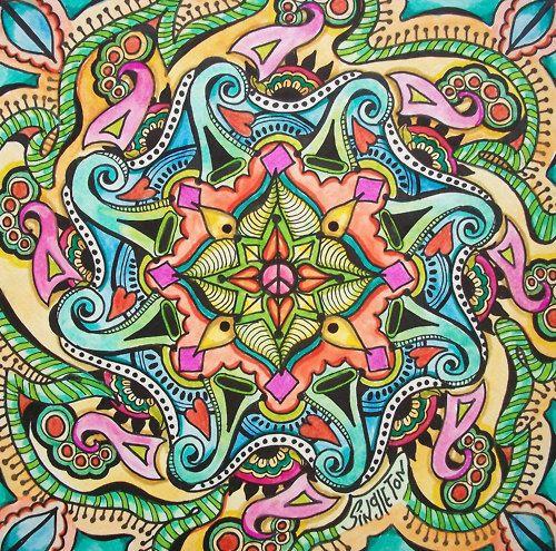Zentangle inspired amazing drawing.