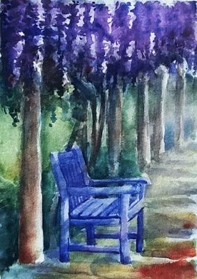 PAINTING IN TUSCANY: Wisteria Love! Reworking an old painting!