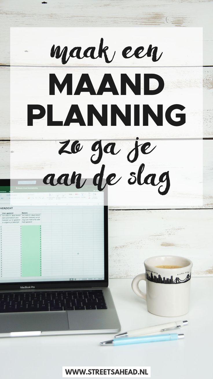 Lees wat de voordelen van een maandplanning zijn én download gratis het overzichtelijke Excelbestand om jouw maandplanning in te kunnen maken!