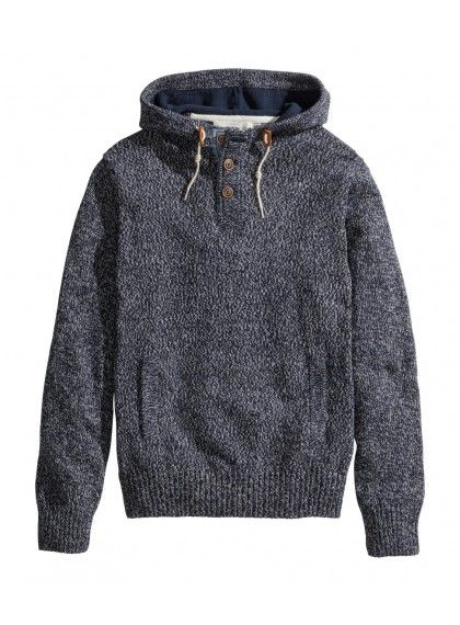 CHEAP MEN'S HOODED KNIT SWEATER Price : $9.99