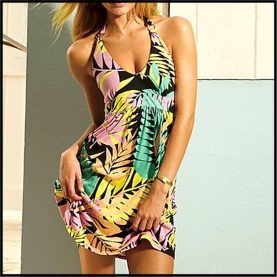 ADULT Aloha Tropical Tease Island Dress Costume XS-M