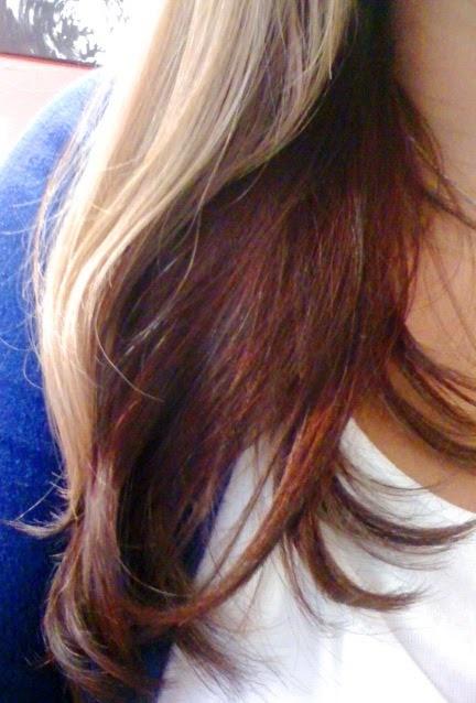 So long mermaid streak! Hello blonde with red under!