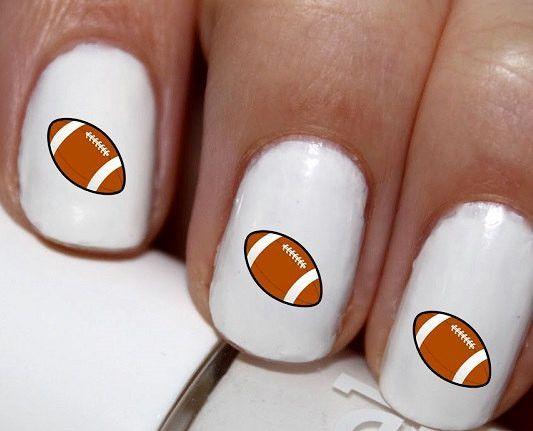 20 pc Football I Love Football Nail Art #cg021na