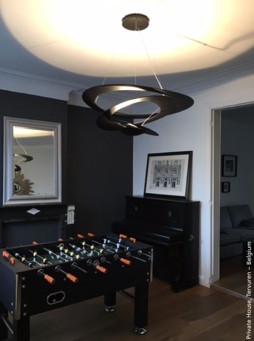 Black & Light ! #Pirce LED pendant, black finish ► http://bit.ly/1use9pB #design Giuseppe Maurizio Scutellà