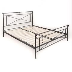 METAL DOUBLE BED IN BLACK COLOR (160X200)