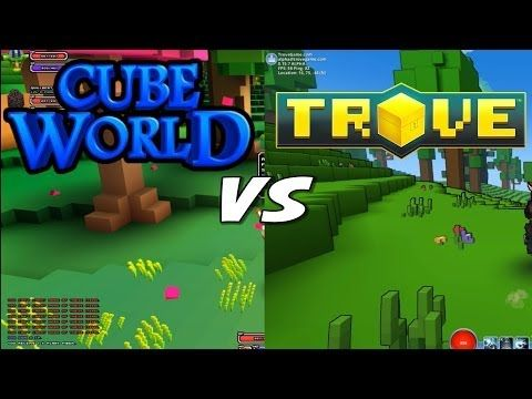 Cube World vs Trove - Gameplay Comparison - YouTube