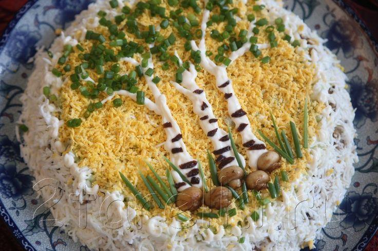 Кулинария салаты с грибами мариноваными