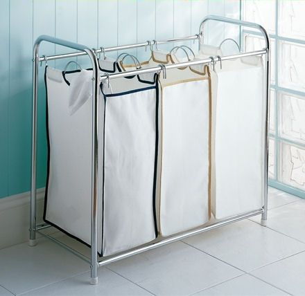 Laundry bags x3. Mine has a lid that doubles as an ironing board. If only I could stop using it as a bench.