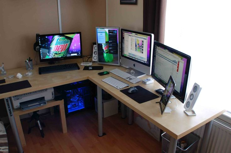 surrounded by macs yesplease cool mac comp setups pinterest home office mac and search. Black Bedroom Furniture Sets. Home Design Ideas