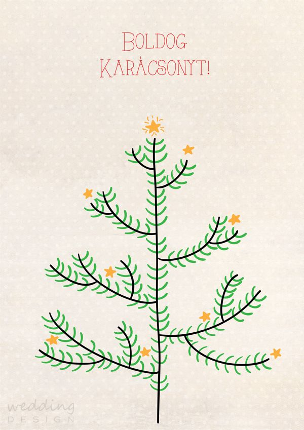 Wedding tree for chirstmas - Karácsonyi ujjlenyomatos plakát