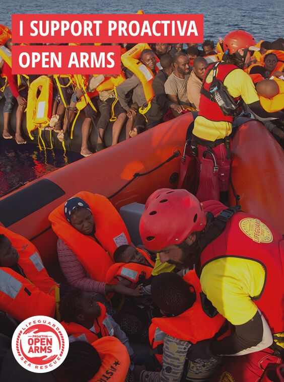 Discover Proactiva Open Arms' work and their promise to not to leave more lives adrift. https://proactivaopenarms.org/en/