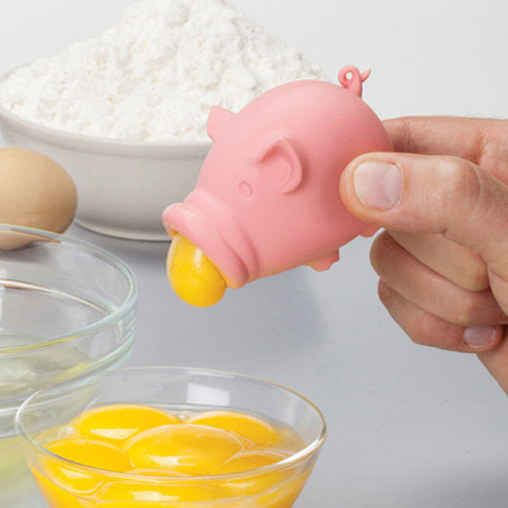 Yolkpig Egg Separater... My mom would love this!