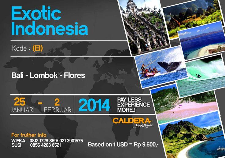 #JOURNEY14  Info and booking :  susi@calderaindonesia.com Telp. (021) 390 1575  By PT Caldera Indonesia Jl. Bojonegoro No. 16, Menteng Jakarta Pusat 10310