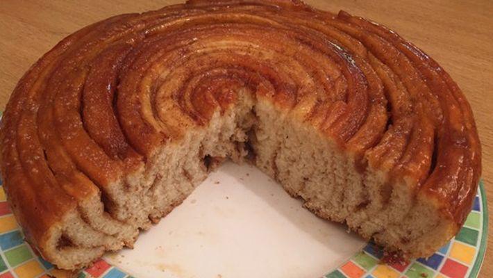 Шотландский спиральный карамельный пирог