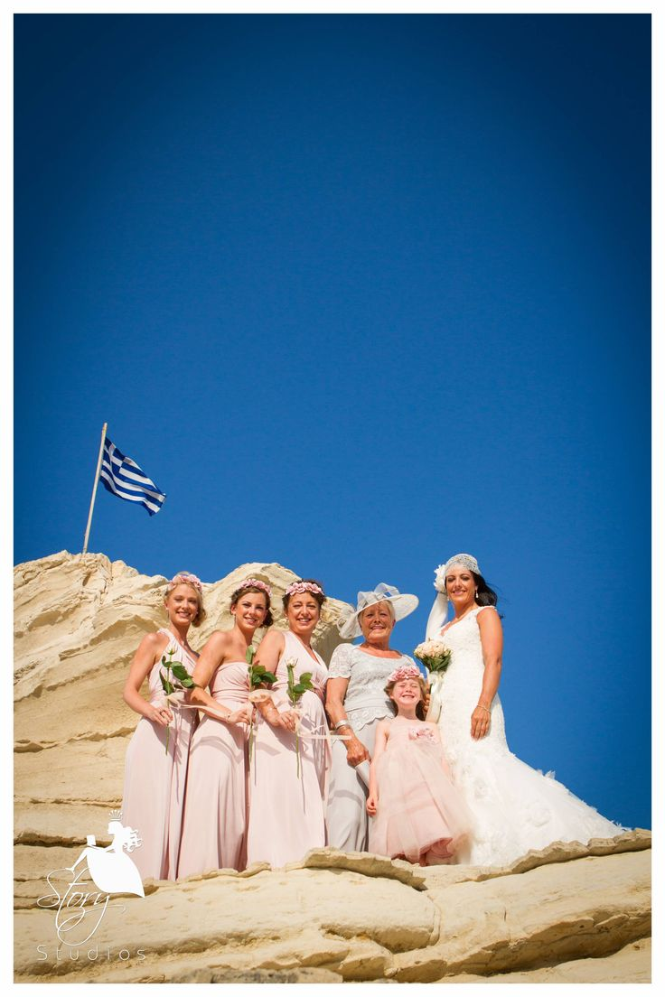 The bride with her bridesmaids at Cameo Island